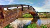 : Wooden Bridge Typography Desktop Wallpaper, Wood Wallpaper, Bridge