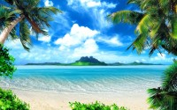 2K Tropical Beach Wallpaper