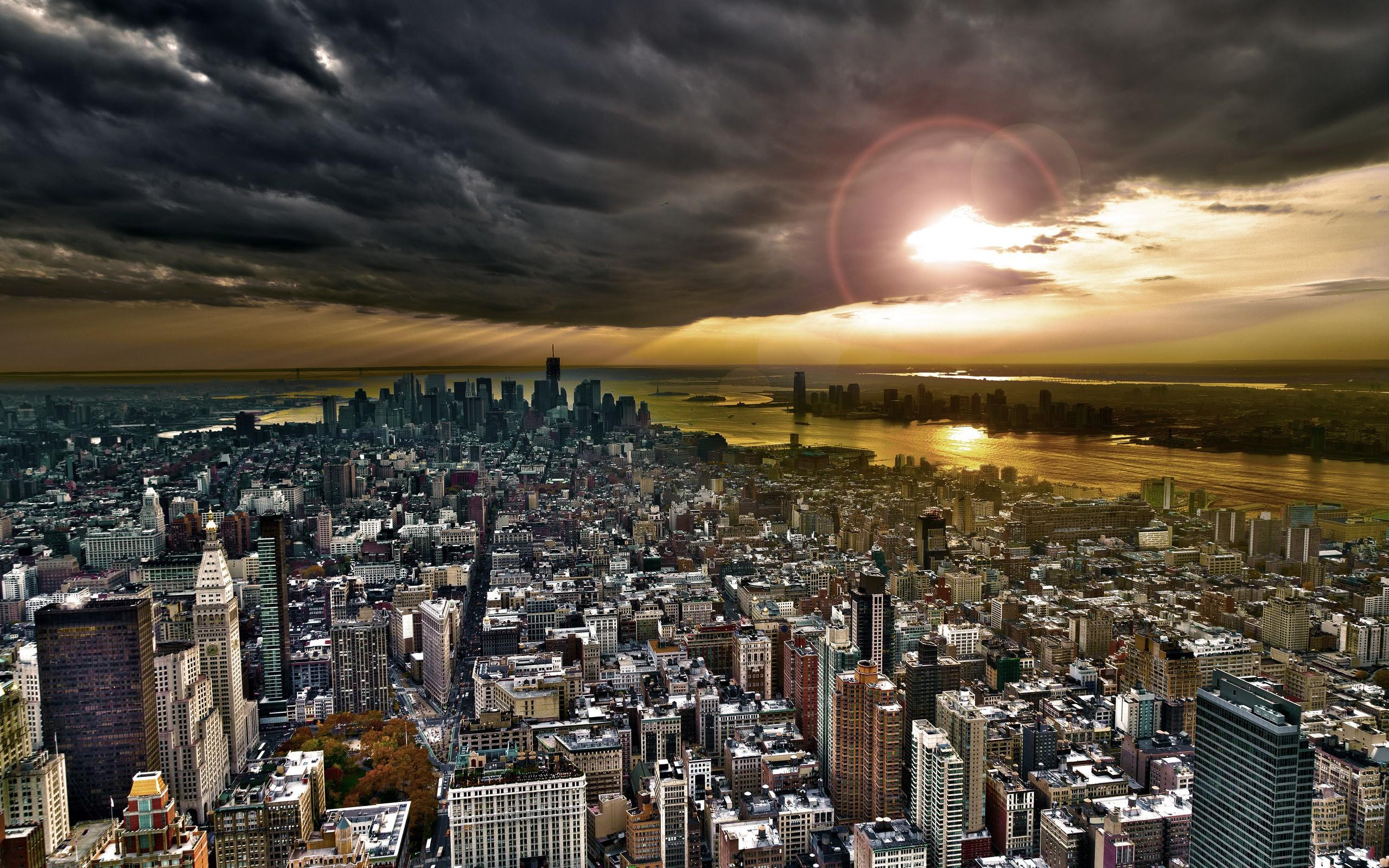 new york city skyline wallpaper 4k wide screen wallpaper