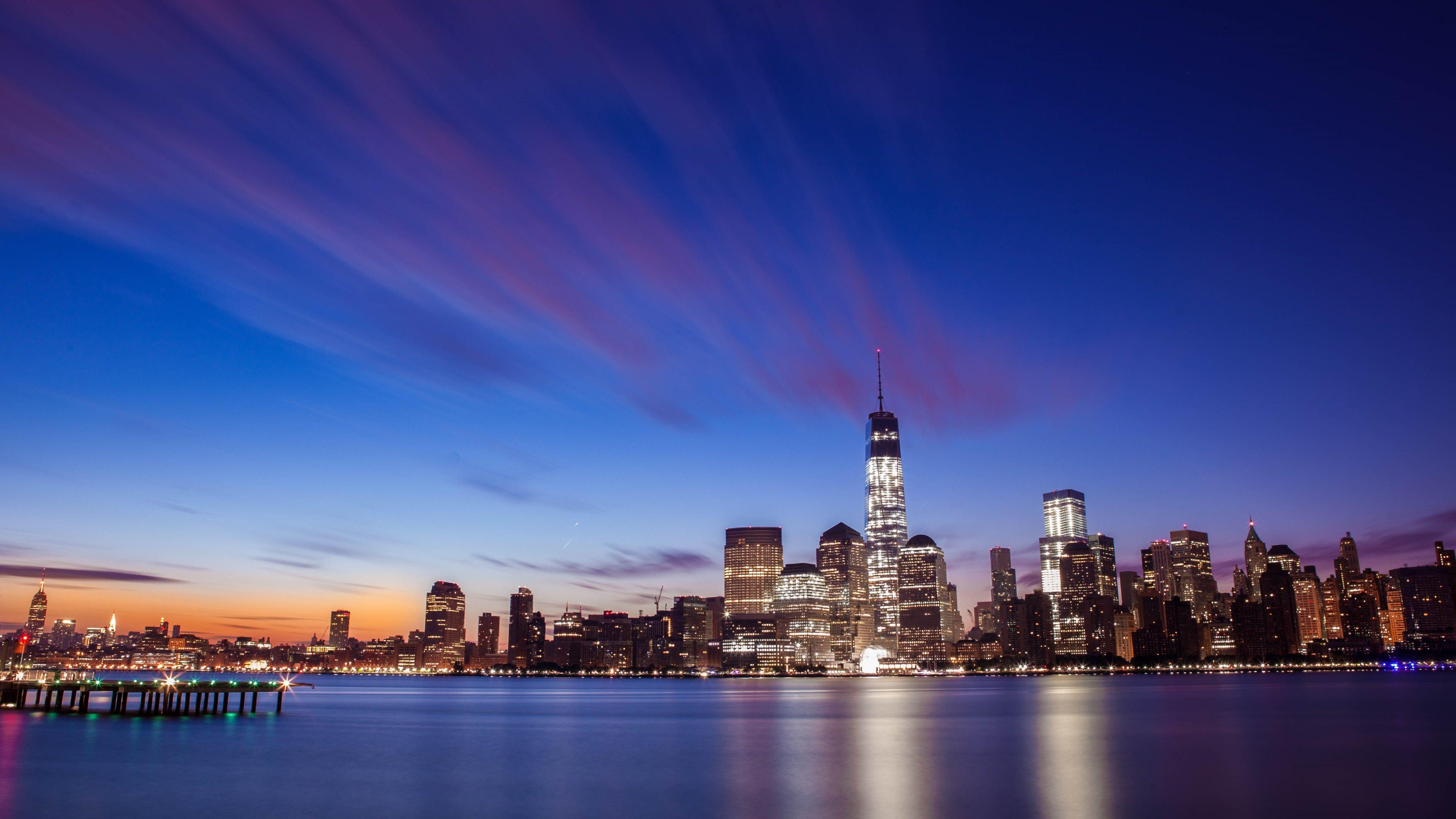 New York City Skyline Wallpaper 4K
