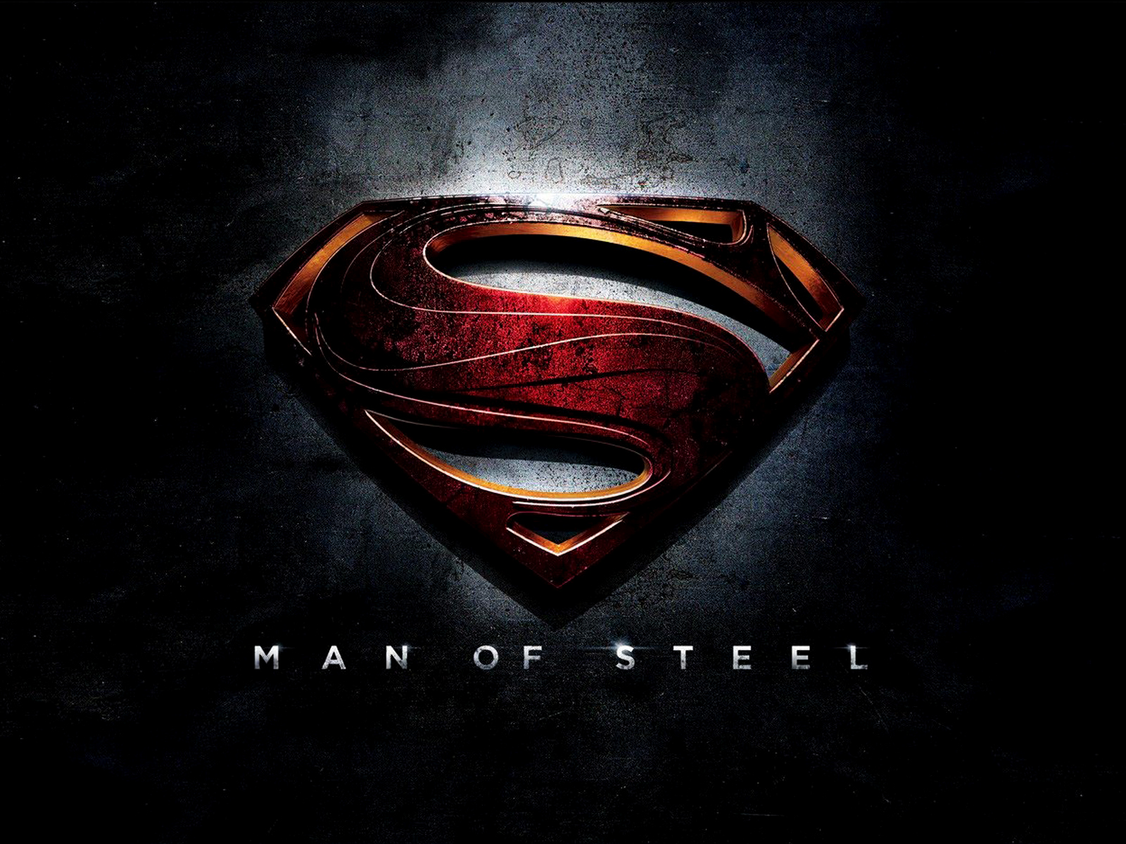 superman man of steel 3d logo hd wallpaper | wide screen wallpaper
