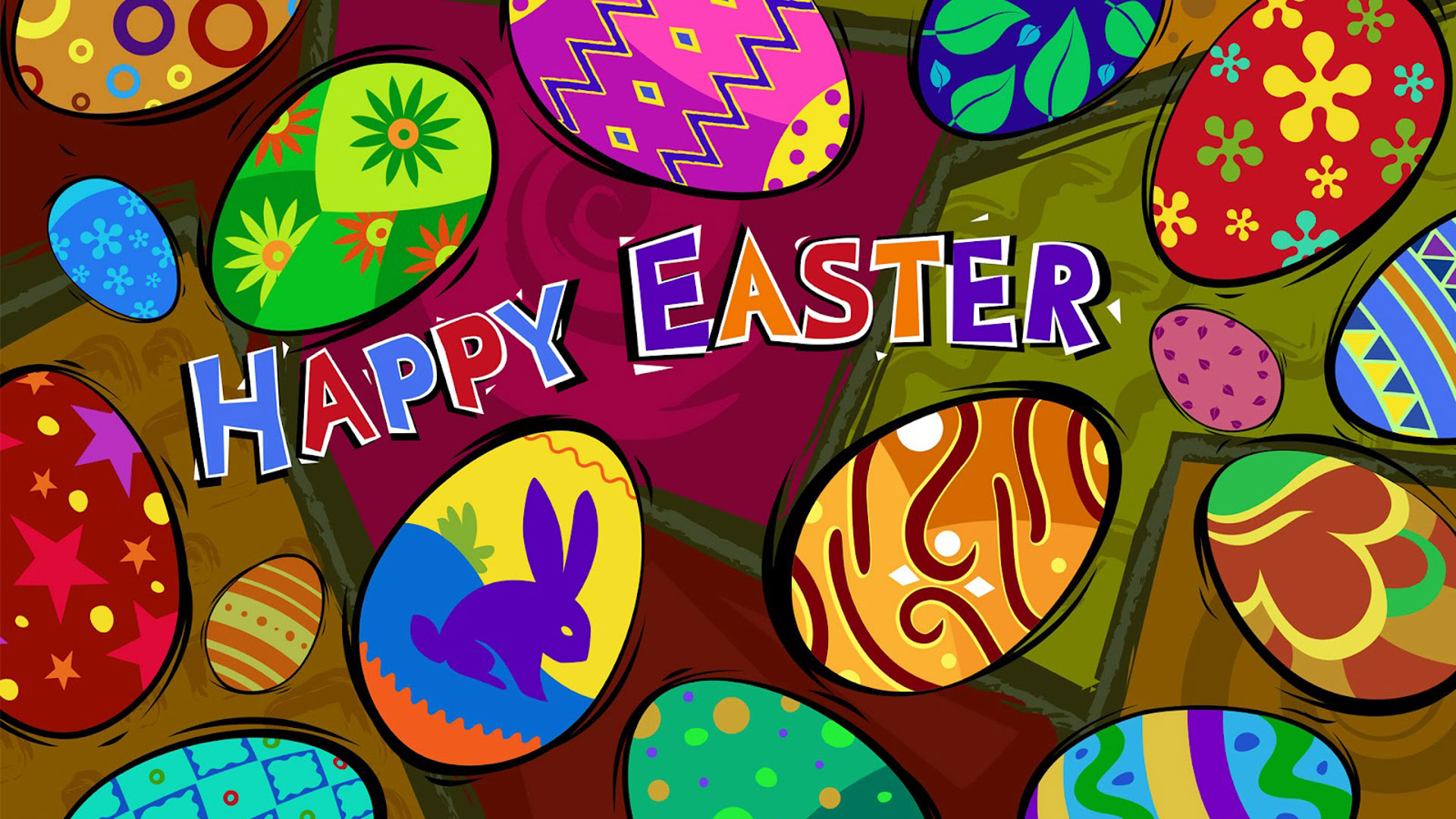 Celebrations Happy Easter Day 1080p Wide Screen Wallpaper 1080p