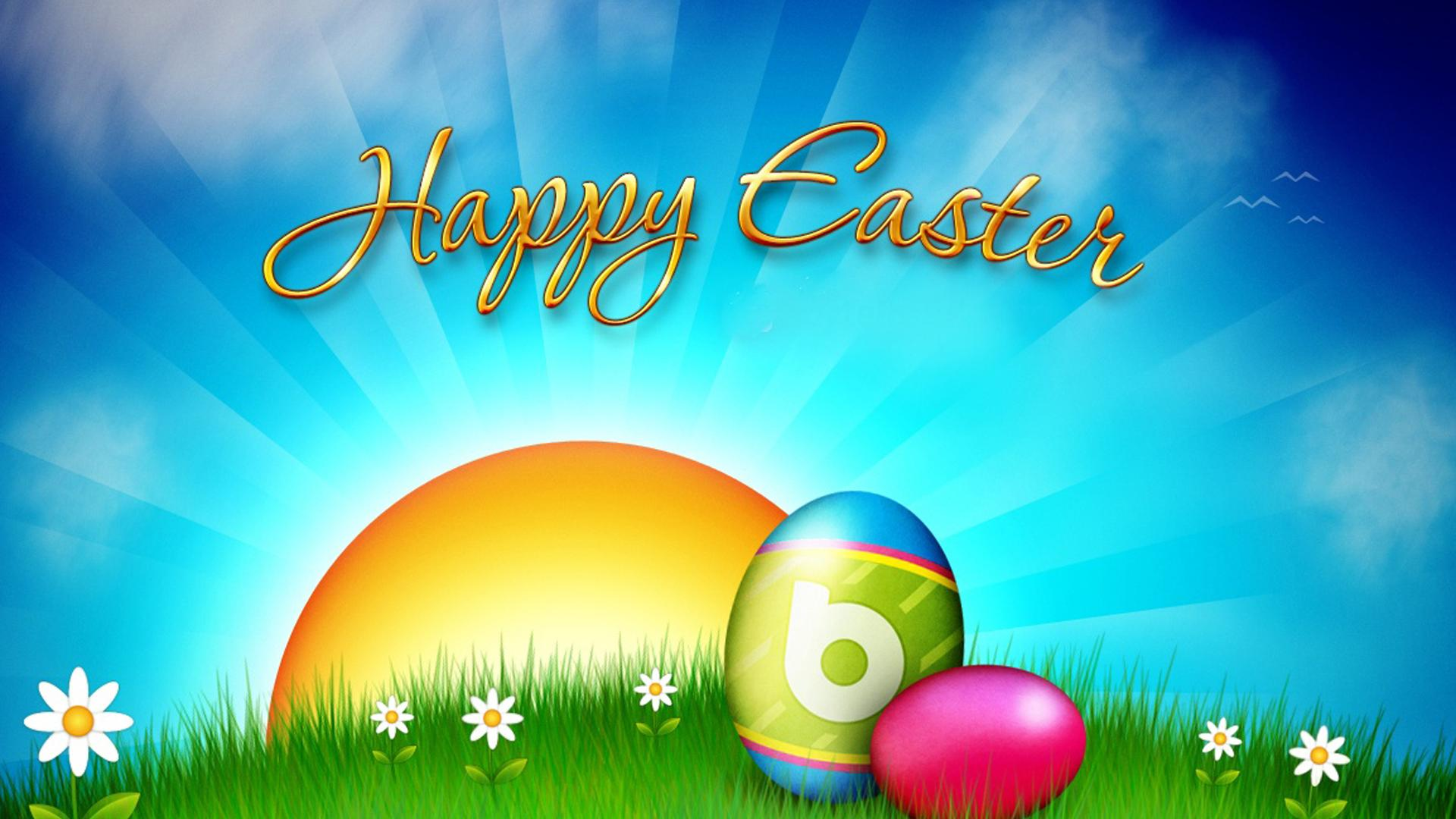 Happy Easter Day Background Hd Wallpaper Wide Screen Wallpaper