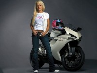 Ducati 848 Bike Girl HD Wallpaper