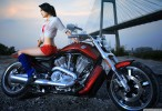 Harley Davidson with Hot Girl Wallpaper