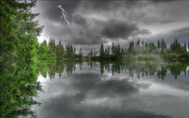 Rain on river hd wallpaper wide screen wallpaper 1080p 2k 4k - Rainy nature hd wallpaper ...