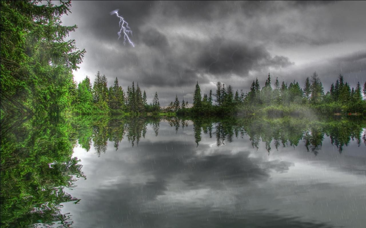 Rain On River Hd Wallpaper Wide Screen Wallpaper 1080p 2k 4k