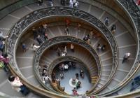 Circular Staircase Vatican Museum Wallpaper