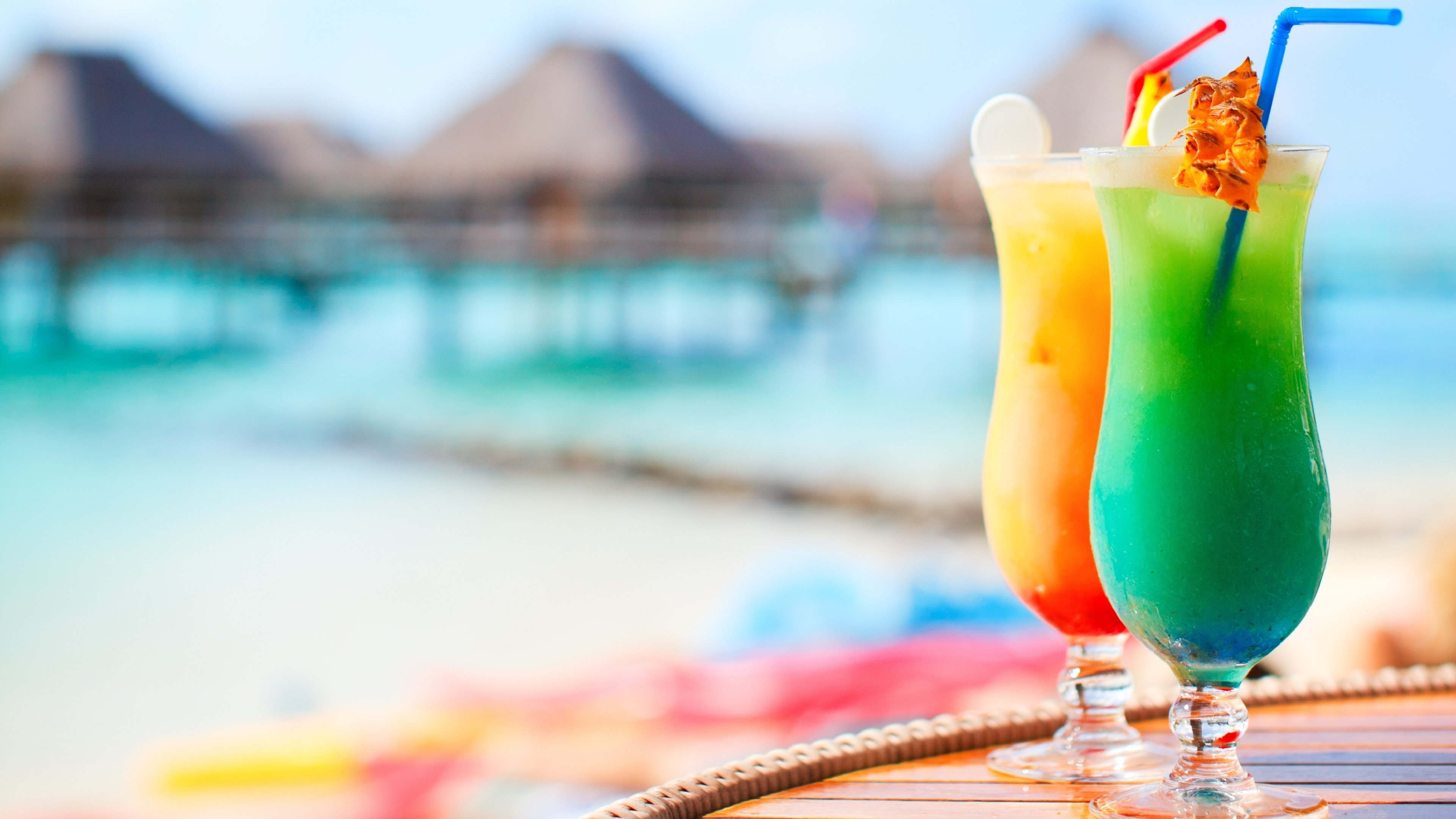 Cocktails on a beach wide screen wallpaper 1080p 2k 4k for Cocktail florida