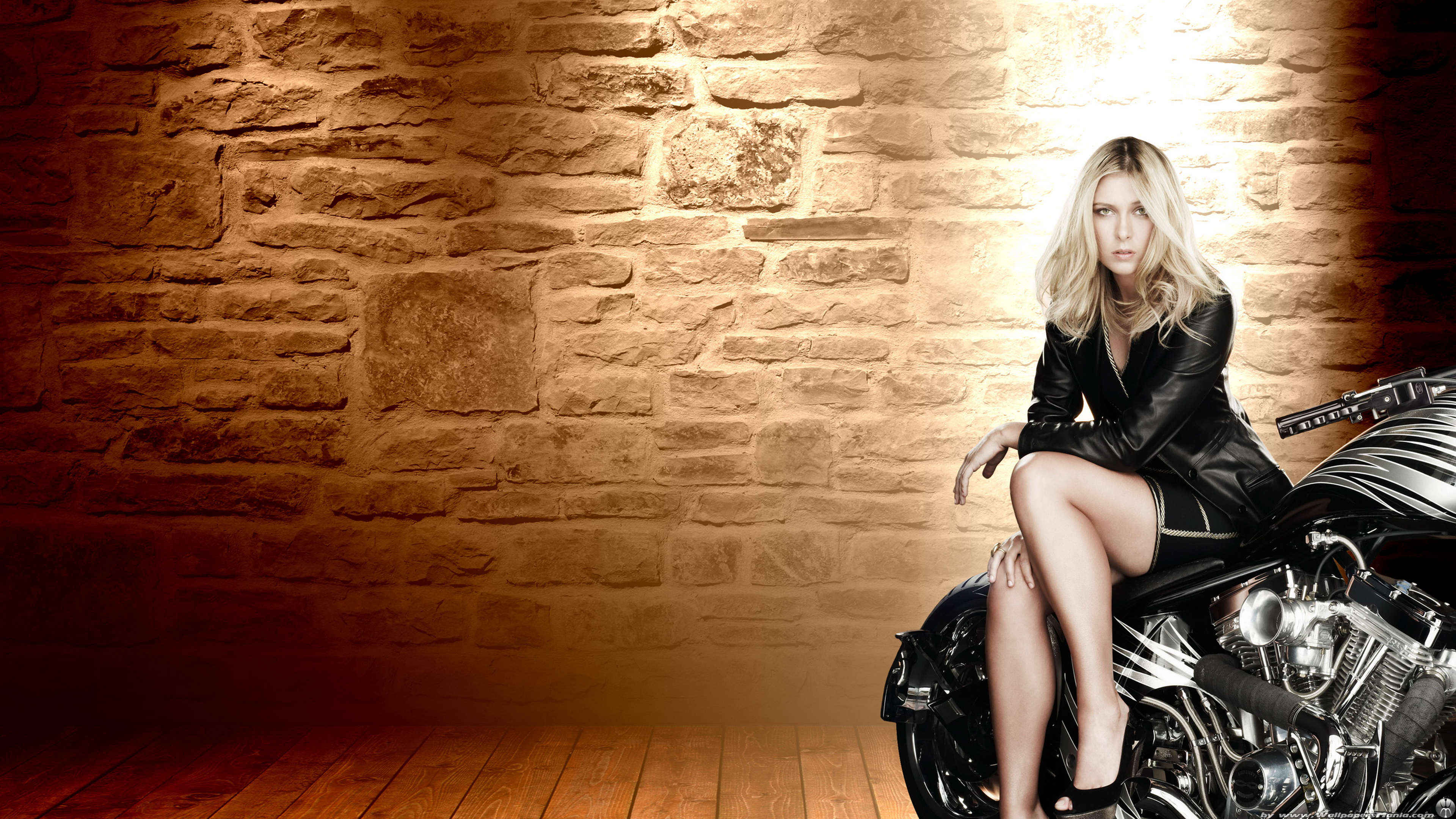 Maria Sharapova on a Motorbike, Feet Ultra HD 4k Wallpaper