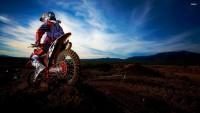 Motocross and sky wallpaper
