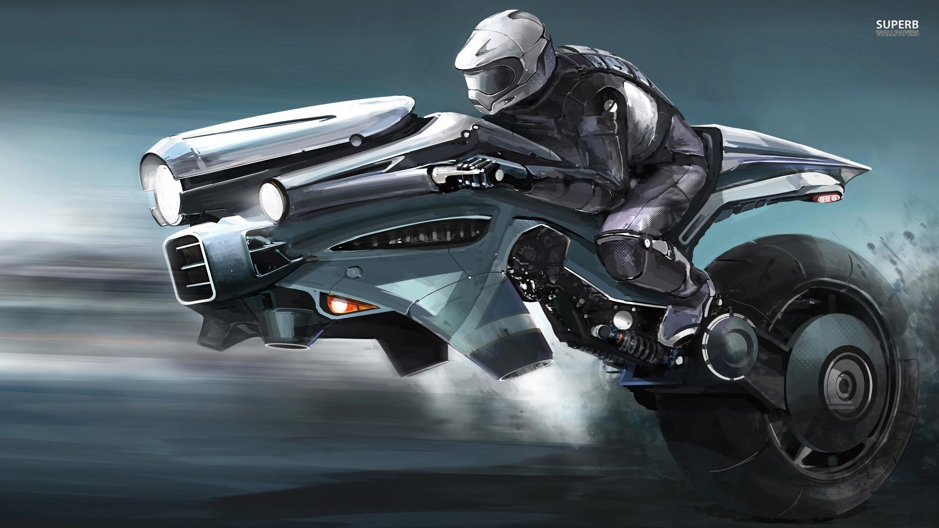 riding the futuristic bike wallpaper | wide screen wallpaper 1080p,2k,4k