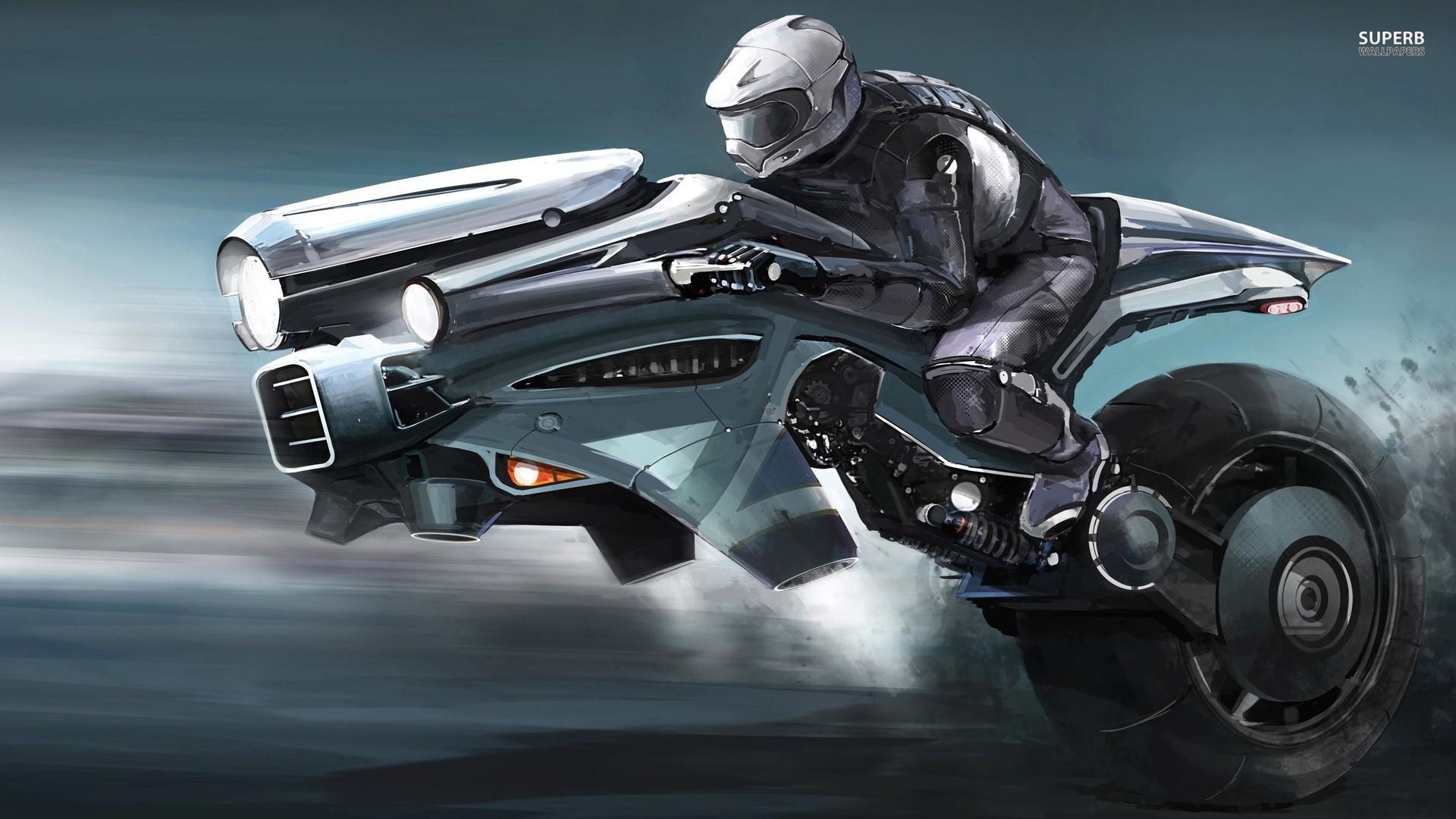 Future Futuristic Motorcycle