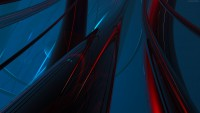 UHD abstract red + blue abstract green Wallpaper