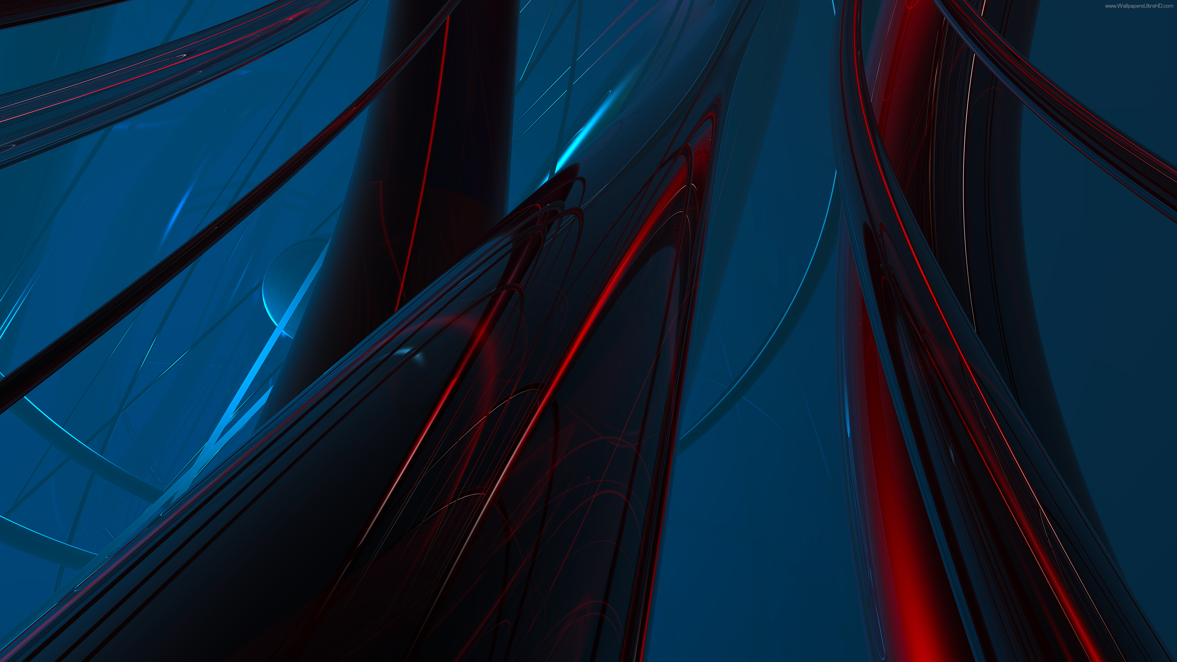 UHD Abstract Red Blue Green Wallpaper