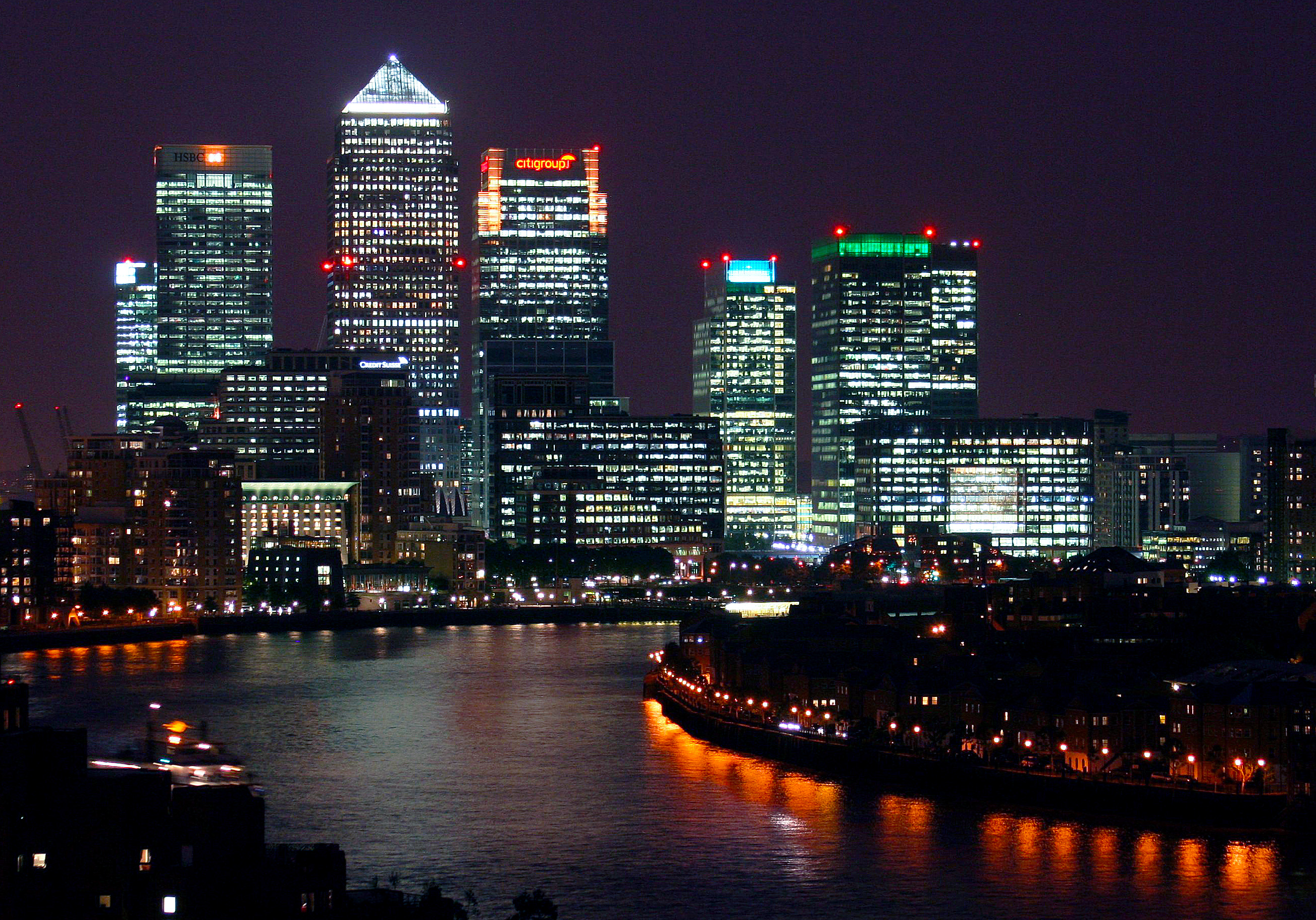 Canary Wharf at Night London