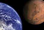 Earth and Mars to scale HD Wallpaper