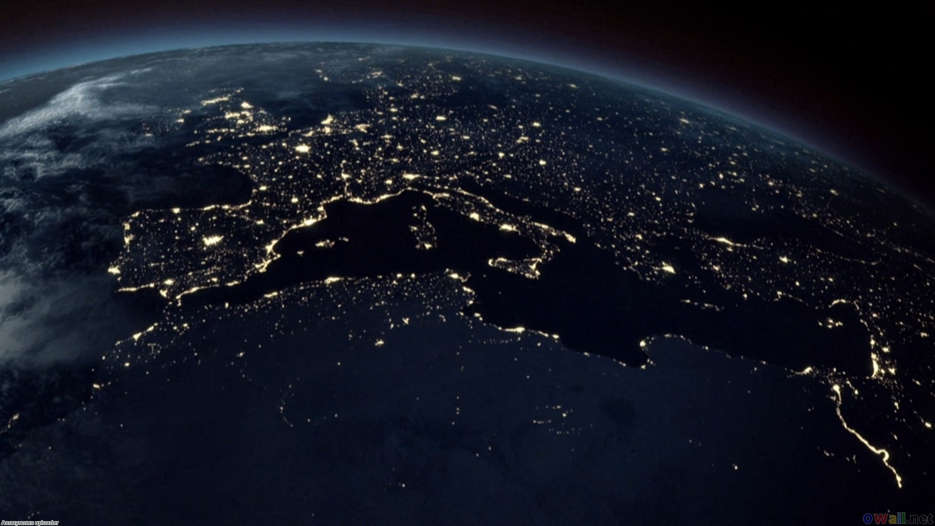 Earth at Night | Europe Hd Wallpaper | Wide Screen ...
