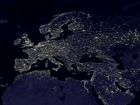 The Night Lights of Europe (as seen from space) HD Wallpaper