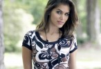 Anahi Gonzales in the Park Wallpaper
