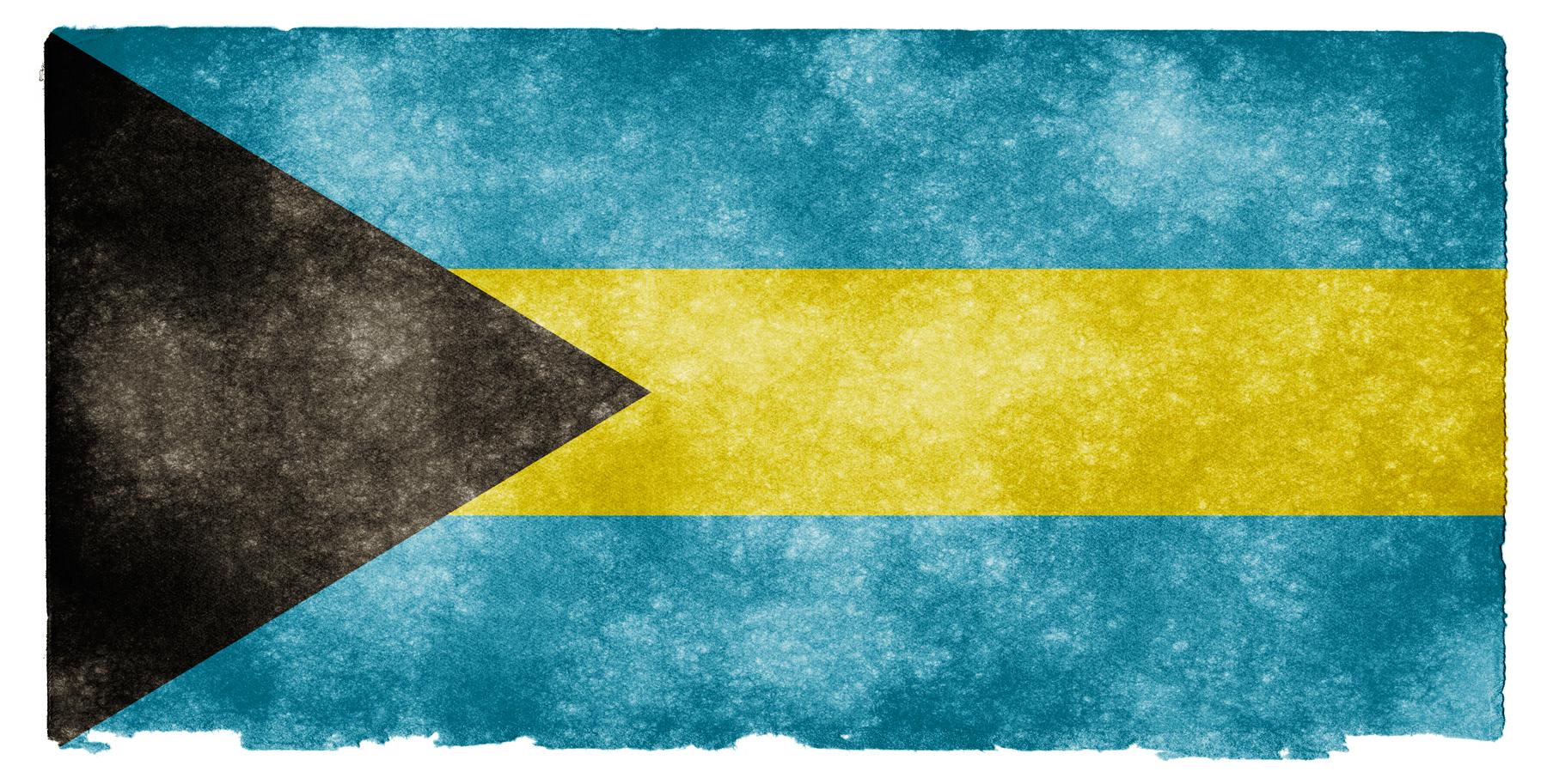Bahamas Grunge Flag HD Wallpaper
