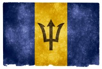 Barbados Grunge Flag HD Wallpaper