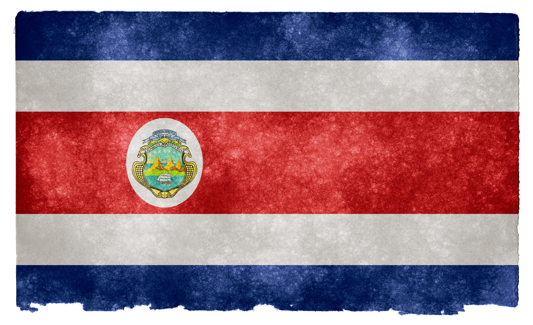 Costa Rica Grunge Flag HD Wallpaper