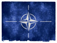 NATO Grunge Flag HD Wallpaper