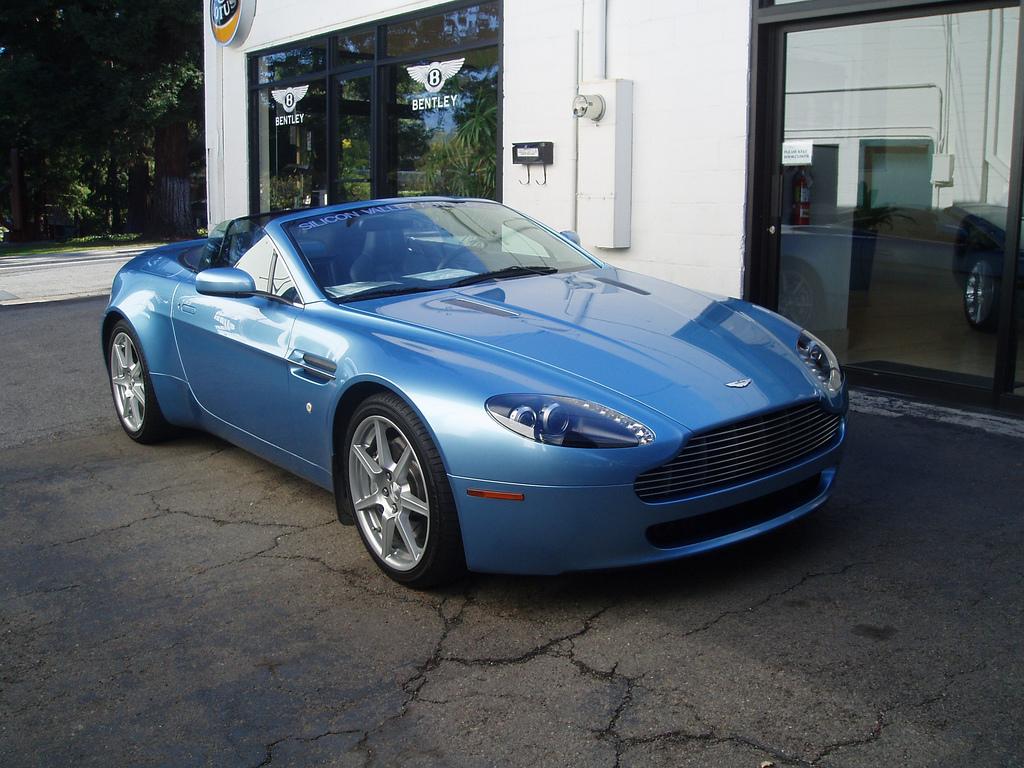 Aston Martin DB9 Pale Blue HD Wallpaper