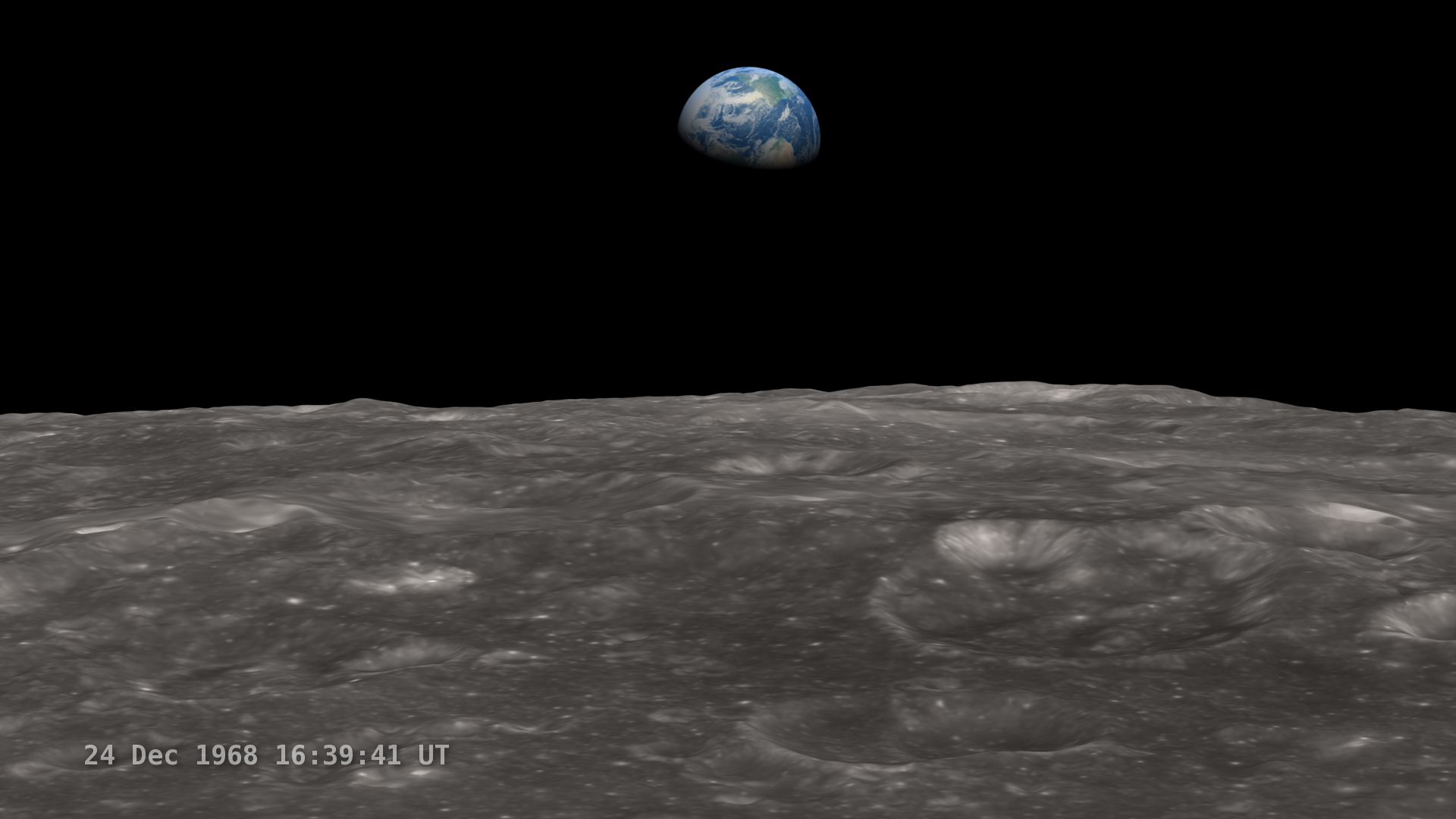 LRO Recreates Astronaut View Earthrise Wallpaper