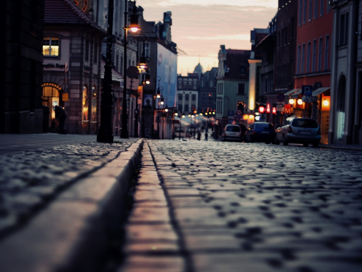 Cobblestone street Wallpaper | Wide Screen Wallpaper 1080p ...