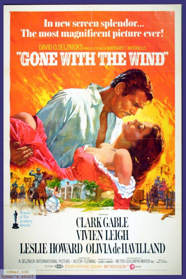 gone with the wind classic movie poster wide screen
