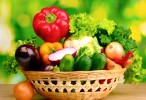 Vegetables Variety In Basket Wallpaper  011