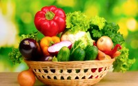 Vegetables Variety In Basket Wallpaper  011
